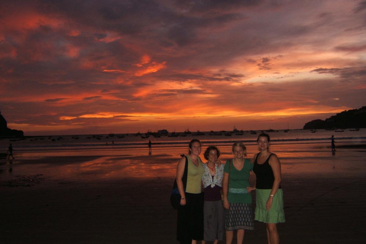 Sunset on the beach San Juan del Sur Nicaragua