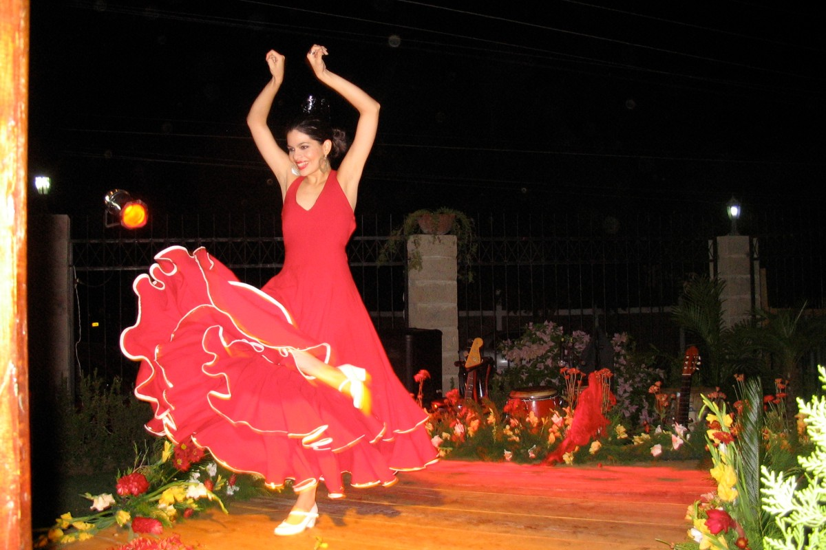 flamenco dancer on stage in Managua Nicaragua