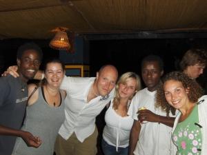 group of friends at zambezi river