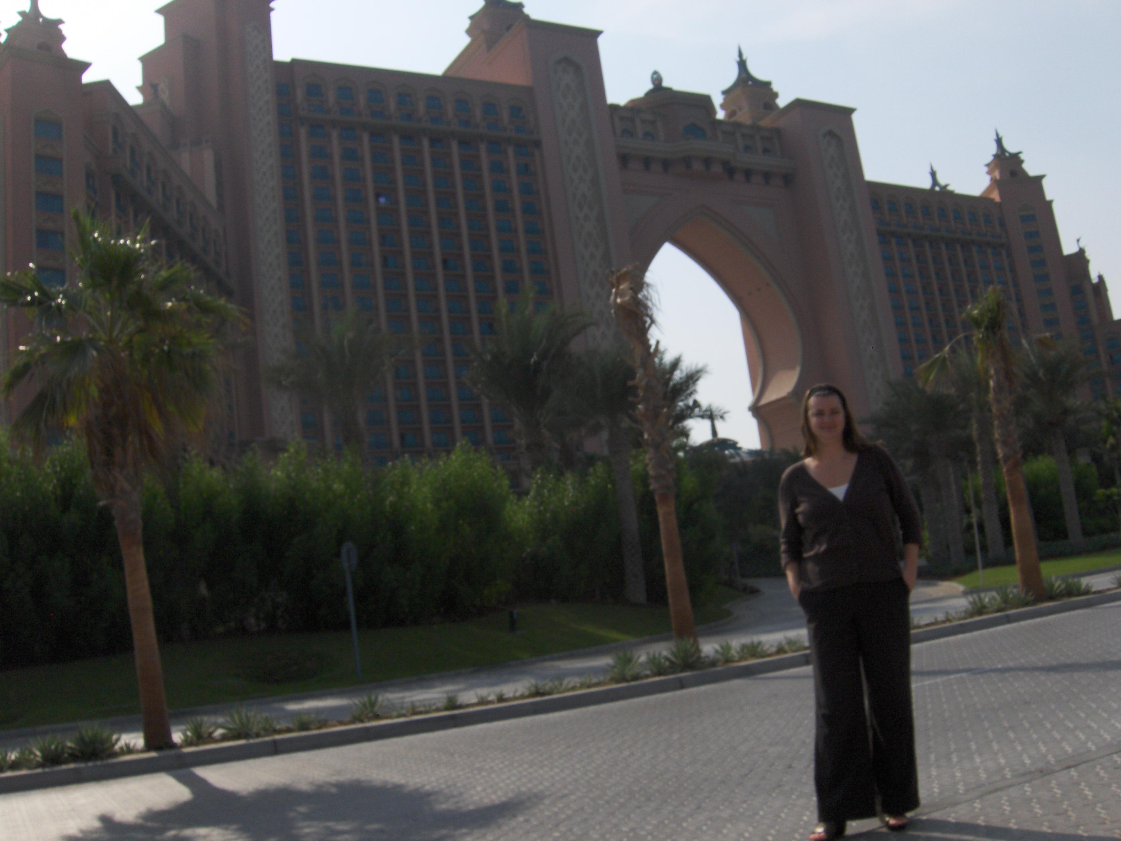 Deah at entrance to Palm Island Hotel Dubai UAE