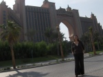Deah at entrance to Palm Island Hotel Dubai UAE