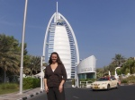 Deah in front of hotel in Dubai united arab emirates