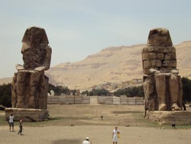 Valley of the Kings Luxor giant pharoah statues egypt
