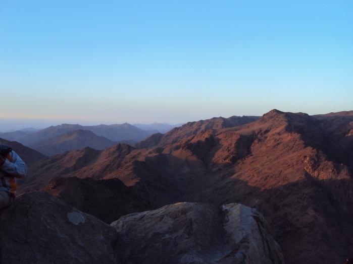 sunrise over sinai peninsula mount hike Egypt