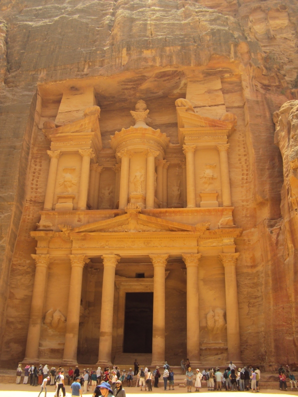 exterior of main temple in petra nabateans indiana jones temple