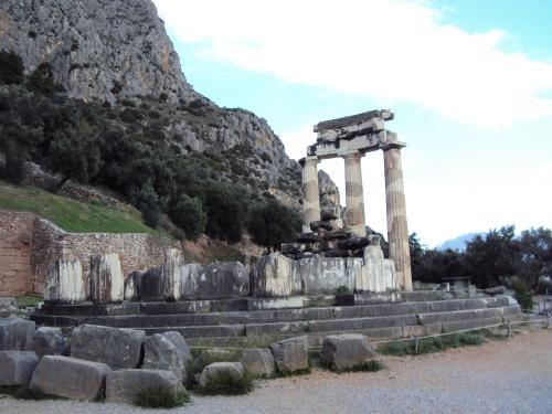 Delphi arch ruins Greece