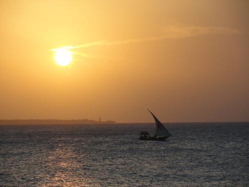 sunset and sailboat zanzibar boats