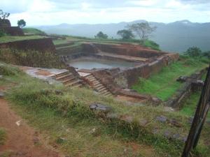 at the top of Sigirya rock fortress sri lanka