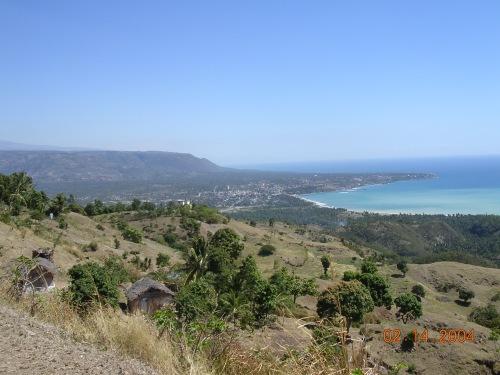 View from Bassin Bleu hike over Jacmel Haiti