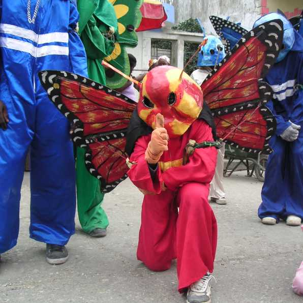 Jacmel carnival butterfly papier mache costumes Haiti