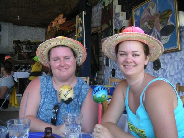 two girls at Jacmel Haiti Carnival