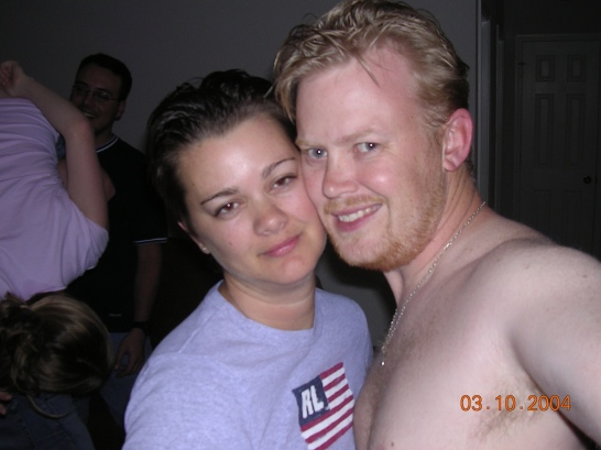 deah and hunter at a party