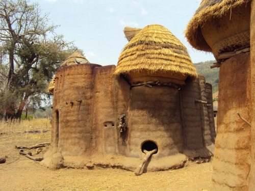 Tamberma Valley togo thatched roof mud huts