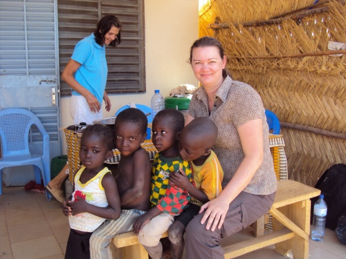 Deah with Sabou village kids in burkina faso africa