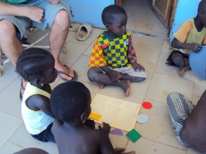 little kids playing in sabou burkina faso africa