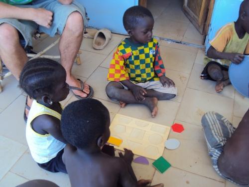 little kids playing in sabou burkina faso africa