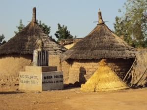 the chief's compound sabou village burkina faso thatched roofs