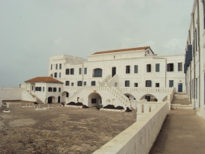 exterior view cape coast slave castle ghana africa