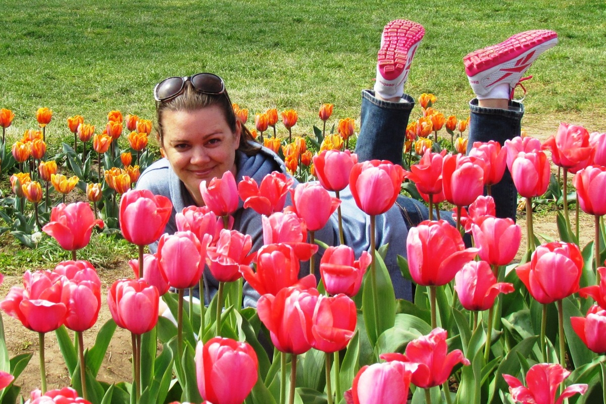Deah in April in DC tulips
