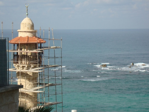view of jaffa and the mediterranean sea israel