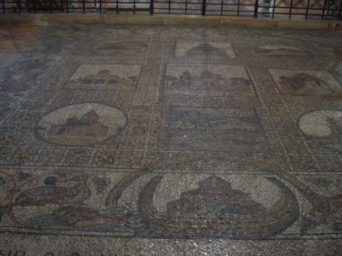 old roman tile flooring church of the holy sepulchre jerusalem israel