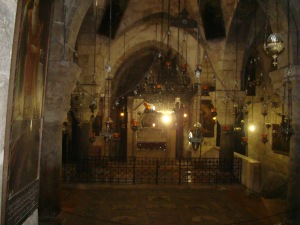 inside the church of the holy sepulchre jerusalem israel