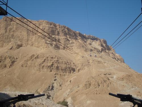 aerial tram to masada mountain top fortress israel