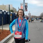 woman after Washington DC rock n roll half marathon