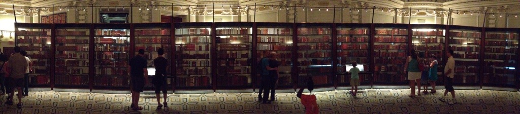 panorama of Jefferson's donated books to Library of Congress
