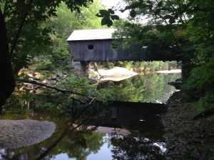 swimming hole and covered bridge maine