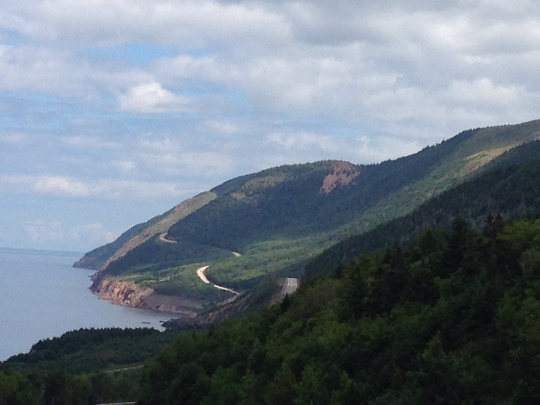 View of John Cabot Trail Nova Scotia Canada