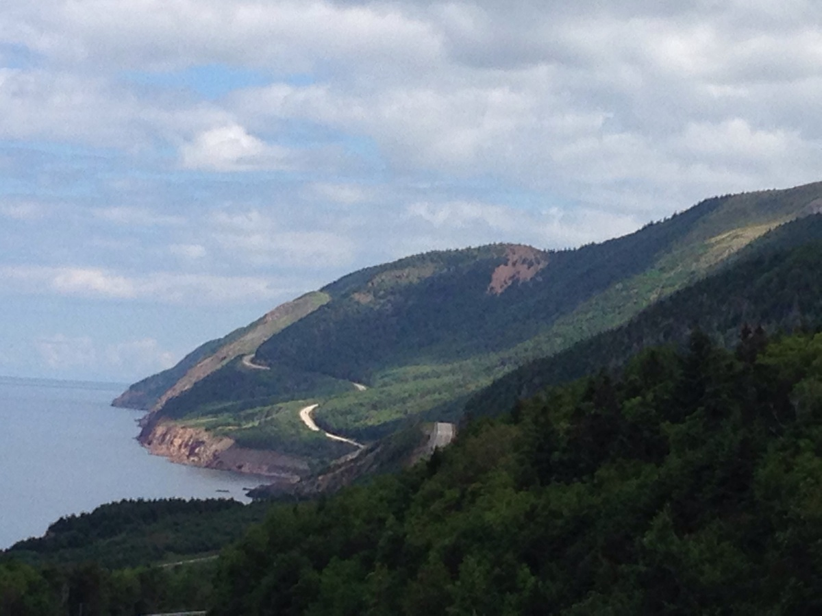 View of John Cabot Trail Nova Scotia Canada