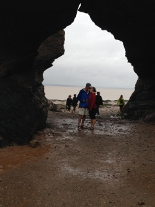 Bay of Fundy low tide: The Kissing Rocks