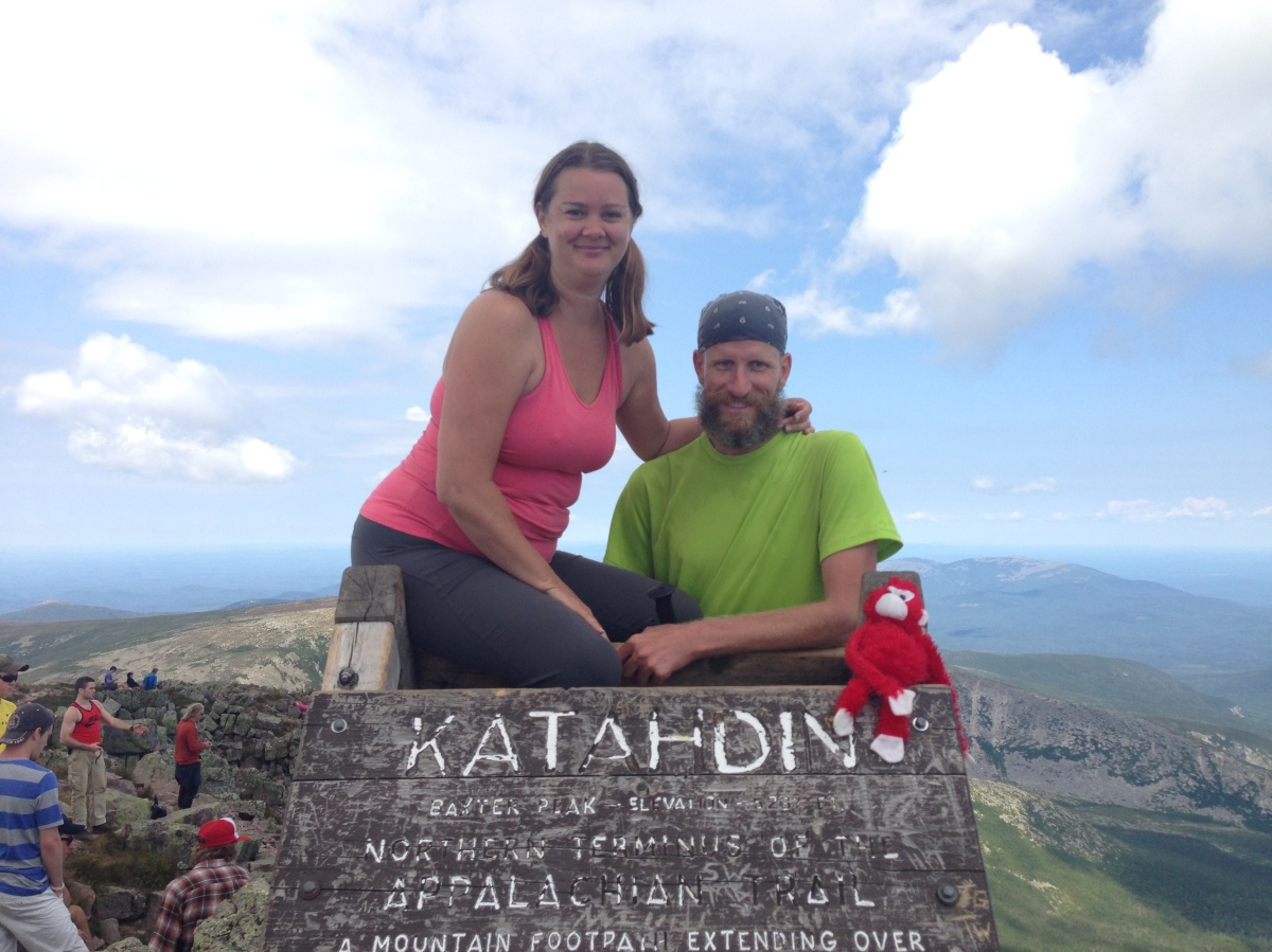 Deah and Chris, Katahdin Mountain, Appalachian Trail