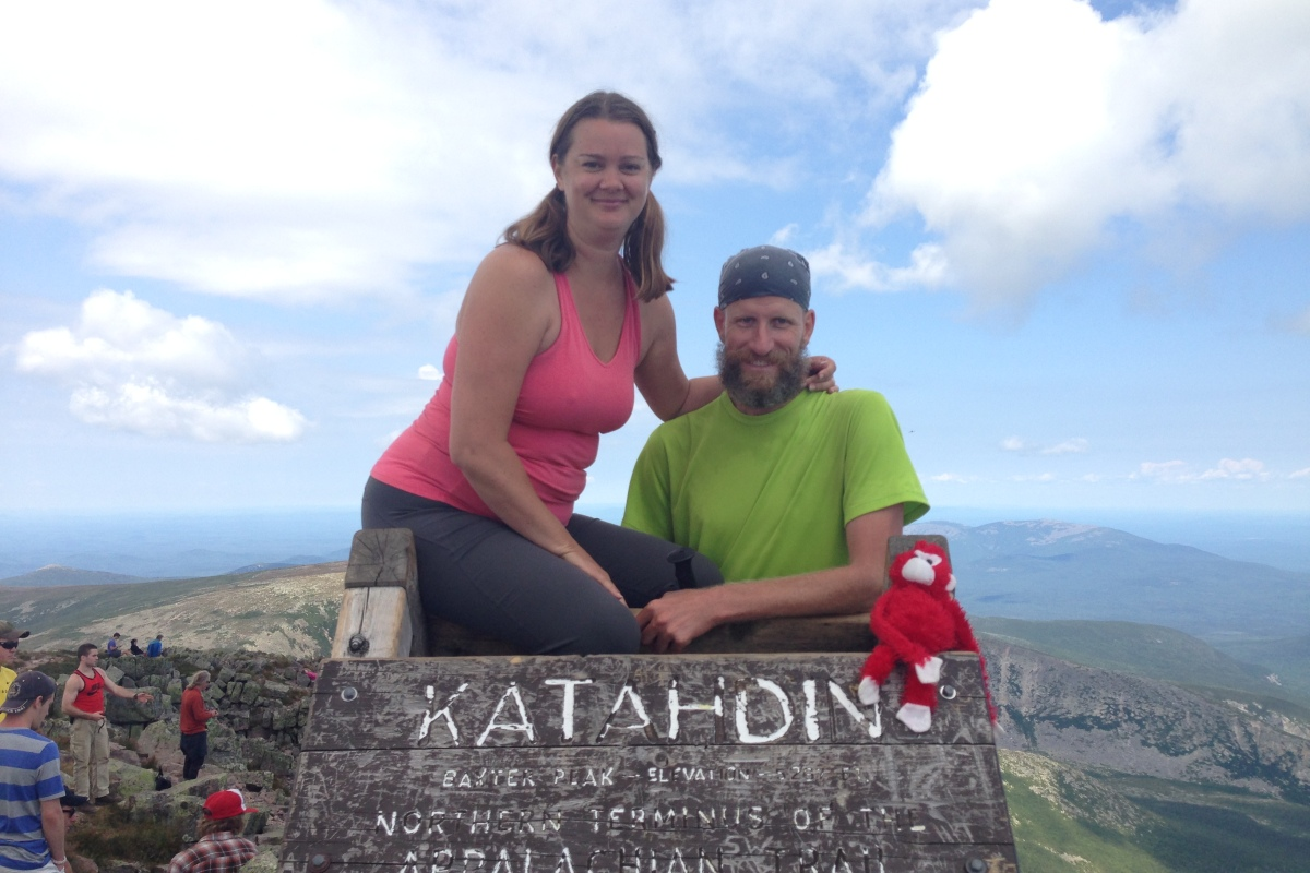 Deah and Chris, Katahdin Mountain, Appalachian Trail