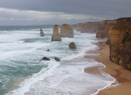Great Ocean Road off coast of Australia