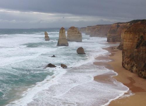 Great Ocean Road off coast of Australia
