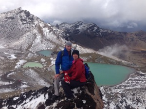 blue lakes white mountains tongariro crossing best day hike in new zealand