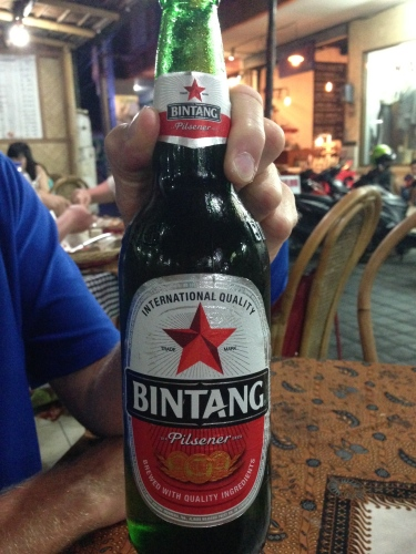 The Bintang is always icy cold and only 30,000 rupiah ($2.50)