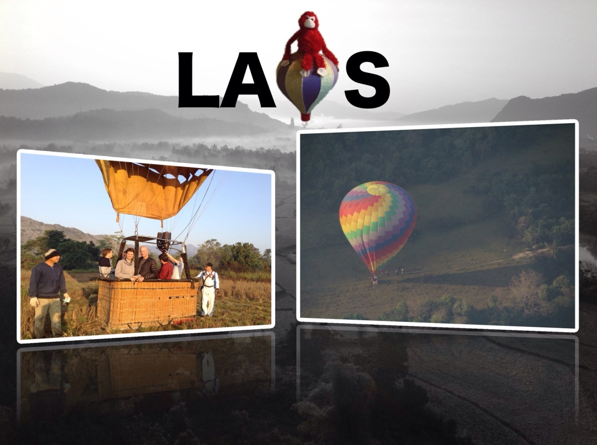Laos hot air balloon