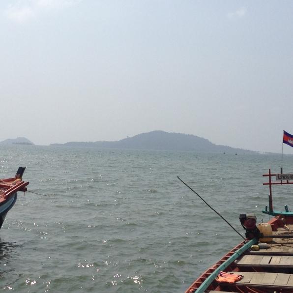Cambodia fishing boats Kaoh Tansay Island