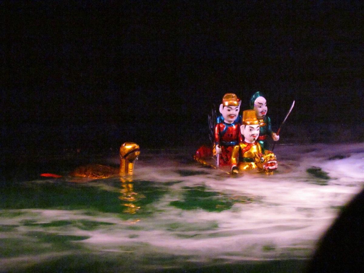 Water Puppet show in Vietnam Hanoi
