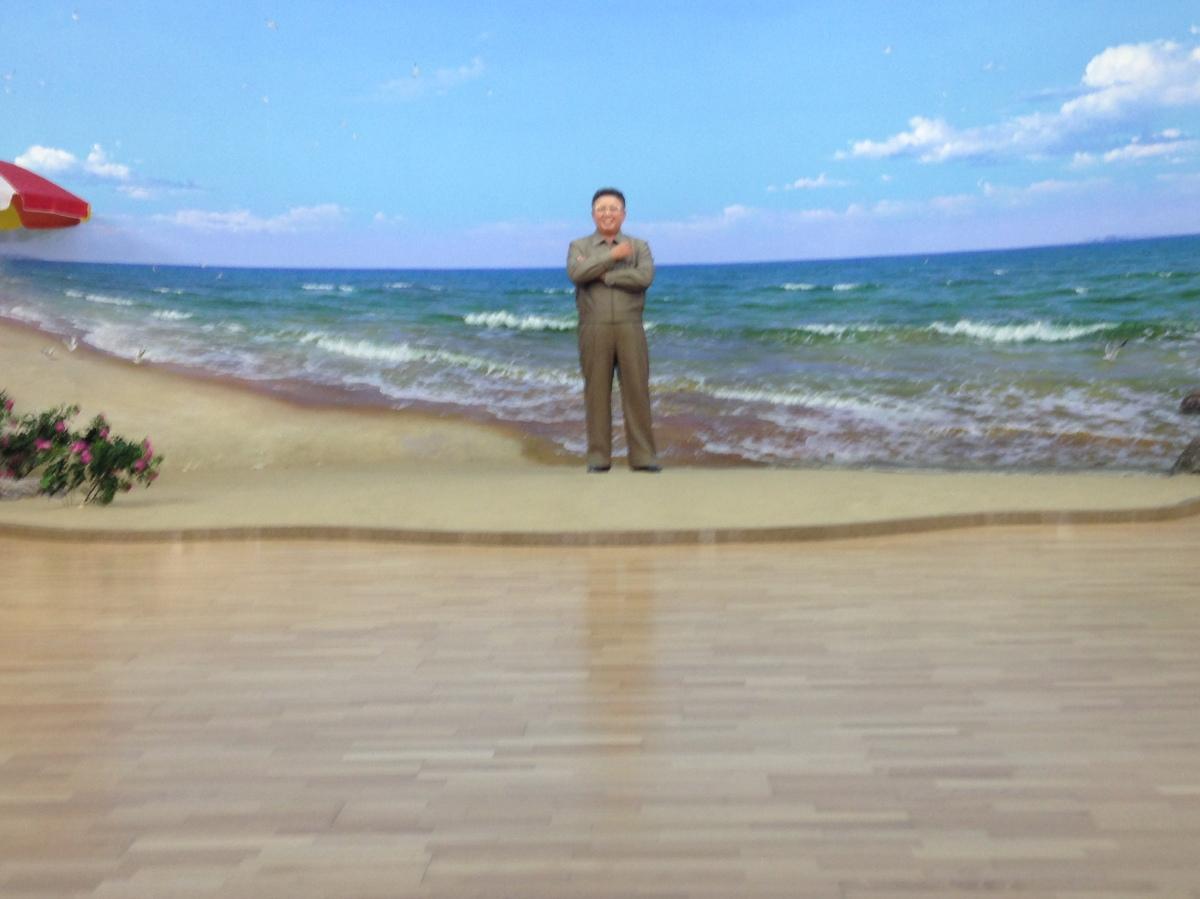 Kim Jung Un visits the beach