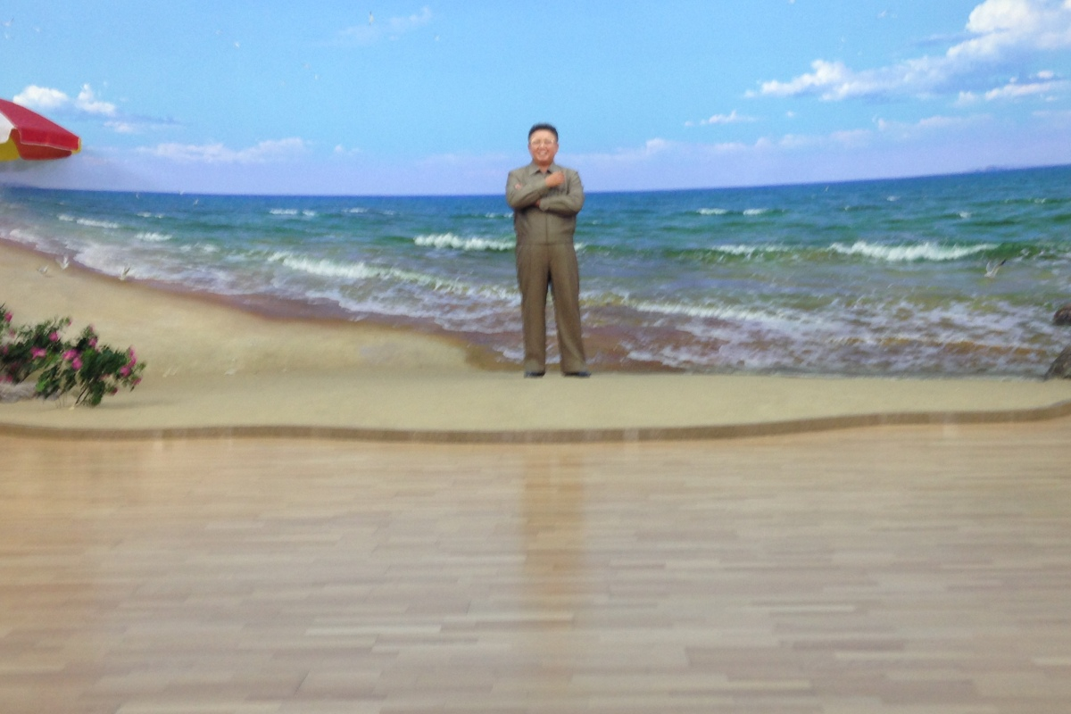 Kim Jung Un visits the beach