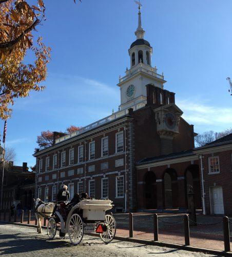 exterior view of Philadelphia old church