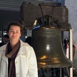 Deah at the Liberty Bell Philadelphia Pennsylvania