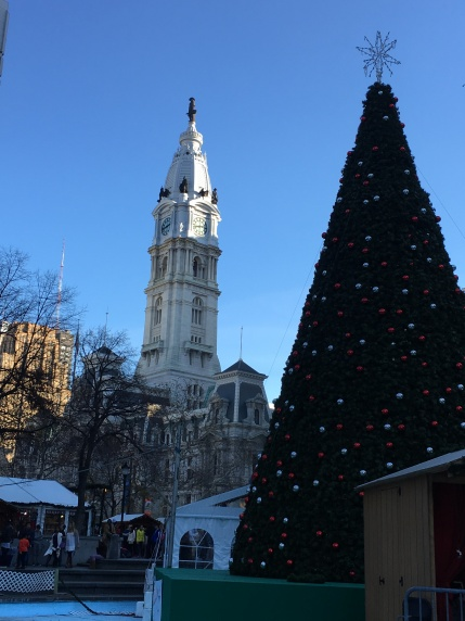 Philadelphia City Hall and Christmas Tree