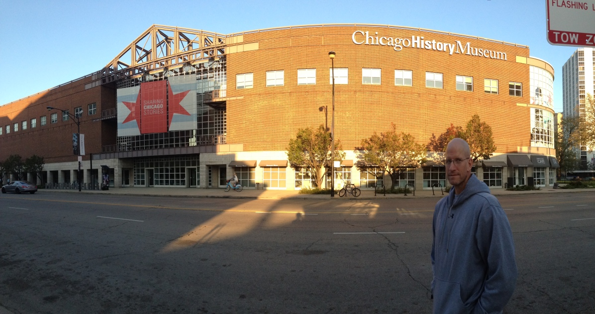 Chris outside Chicago History Museum