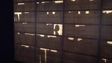 Silhouette at the Benjamin Franklin Museum in Philadelphia