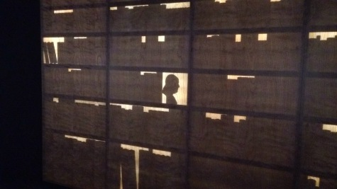 Silhouette at the Benjamin Franklin Museum in Philadelphia